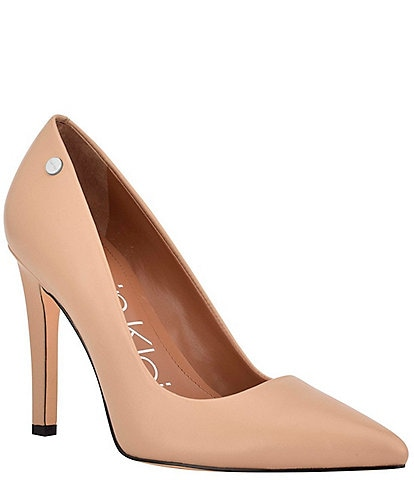 Calvin Klein Brady Leather Pointed Toe Pumps