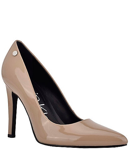 Calvin Klein Brady Patent Leather Pointed Toe Pumps