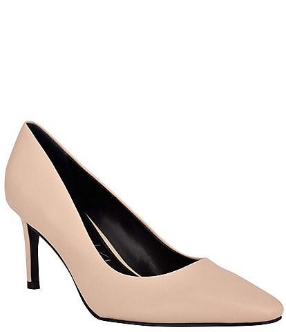 Calvin Klein Callia Leather Square Toe Pumps