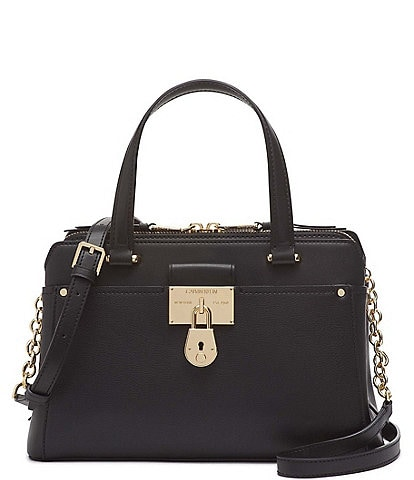Calvin Klein Camille Daytona Leather Satchel Bag