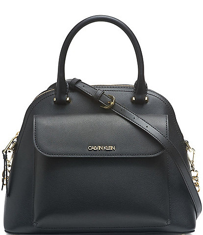 Calvin Klein Chained Daytona Leather Satchel Bag