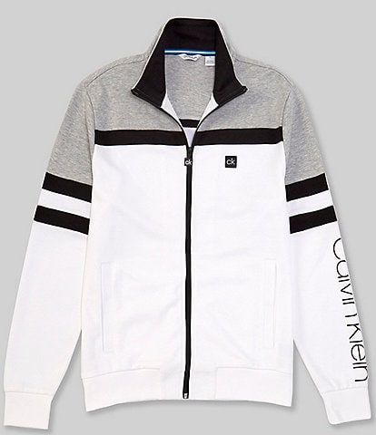 Calvin Klein Color Block Full-Zip Track Jacket