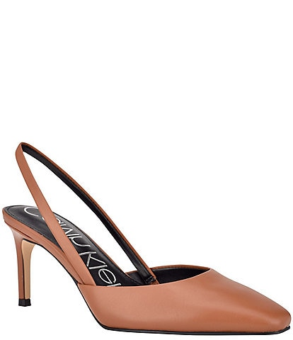 Calvin Klein Coreta Leather Sling Pumps