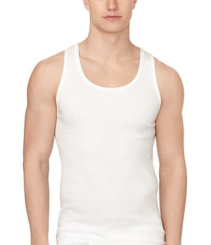 90fedc3fe96863 Calvin Klein Cotton Classic Ribbed Tanks 3-Pack