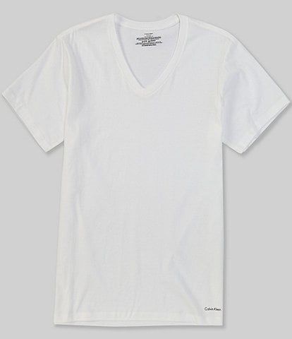 Calvin Klein Cotton Classic Solid V-Neck T-Shirts 3-Pack