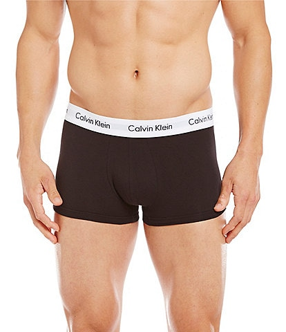 16f7f549b6760f Calvin Klein Cotton Stretch 3-Pack Low-Rise Trunks