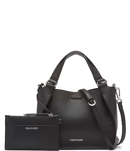 Calvin Klein Estelle Textured Snap Crossbody Bag