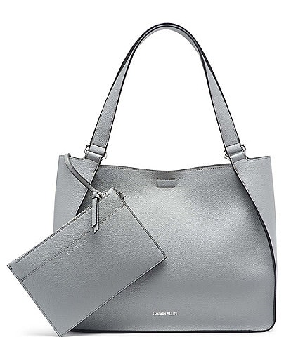 Calvin Klein Estelle Textured Mag Snap Tote Bag