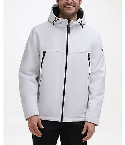 Calvin Klein Faux-Sherpa-Lined Soft-Shell Hooded Jacket