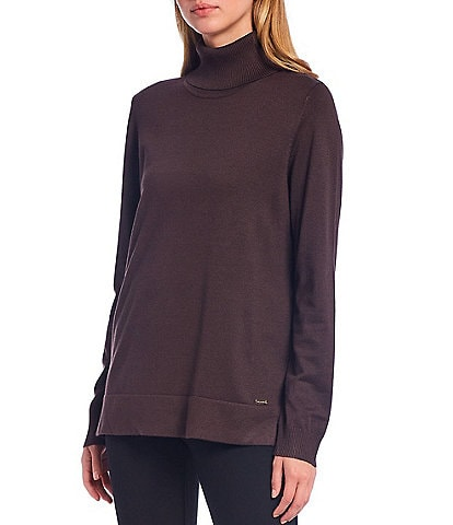 Calvin Klein Fine Gauge Knit Long Sleeve Turtleneck Sweater