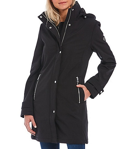 Calvin Klein Fleece Lined Detachable Hood Soft Shell Rain Coat