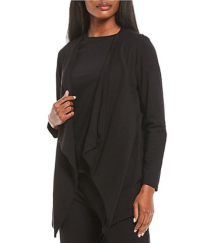 Calvin Klein French Terry Knit Open Drape-Front Cardigan