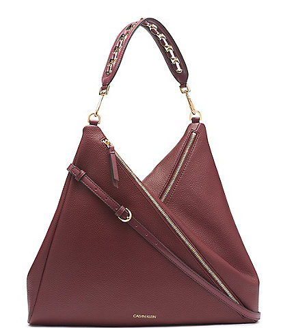 Calvin Klein Geo Double Zip Hobo Bag