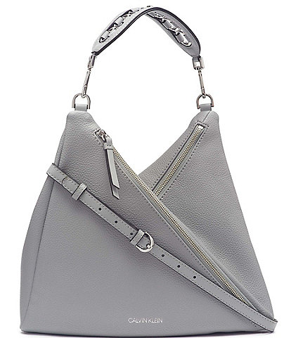 Calvin Klein Geo Double Zip Shoulder Bag