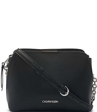 Calvin Klein Hailey Pebble Textured Snap Crossbody Bag