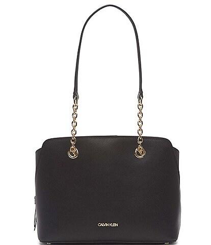 Calvin Klein Hailey Pebble Textured Satchel Bag
