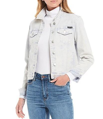 Calvin Klein Jeans Acid Wash Trucker Denim Jacket