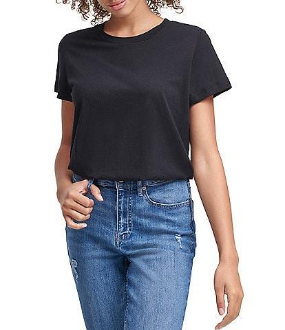 Calvin Klein Jeans Crew Neck Short Sleeve Knit Bodysuit