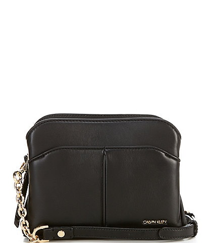 Calvin Klein Jenni Positano Leather Snap Crossbody Bag