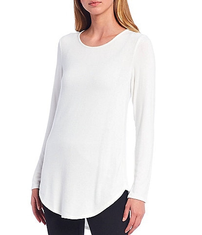 Calvin Klein Knit Jersey Long Sleeve Hi-Low Tunic