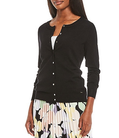 Calvin Klein Long Sleeve Button Front Classic Cardigan