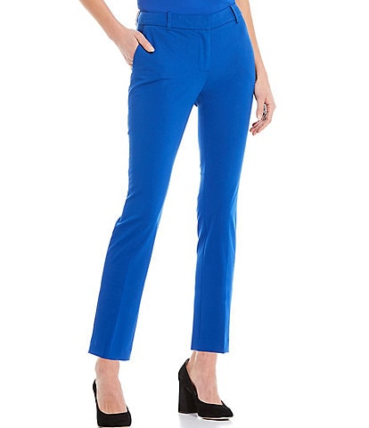 Calvin Klein Lux Stretch Suiting Slim Ankle Pants