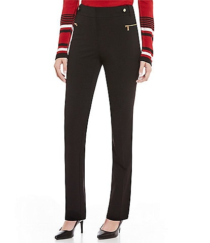 Calvin Klein Luxe Stretch Side Waist Snap Tab Zip Pocket Pants