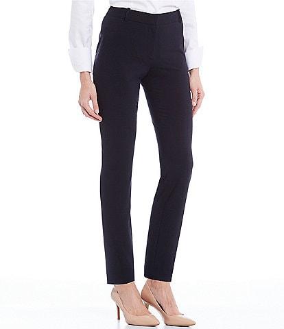 Calvin Klein Luxe Stretch Slim-Leg Pants