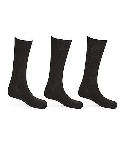Calvin Klein Microfiber Mid-Calf Dress Socks 3-Pack