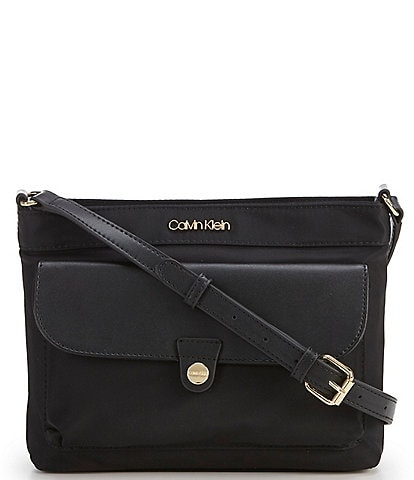 Calvin Klein Nylon Pocket Zip Crossbody Bag