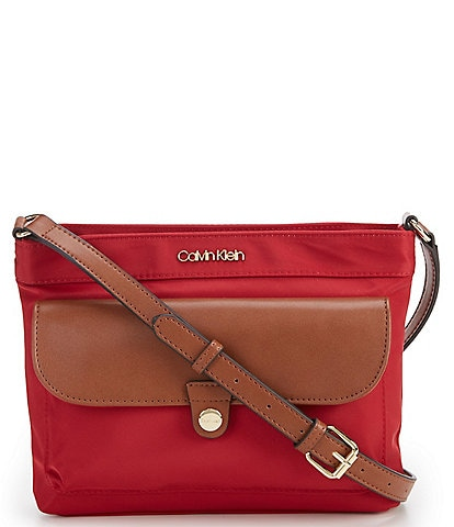 Calvin Klein Nylon Pocket Zip Crossbody