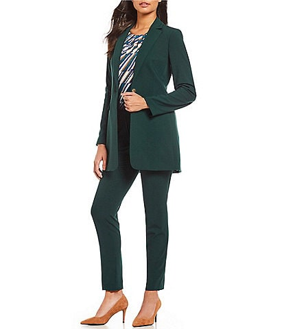 Calvin Klein One-Button Notch Collar Jacket & Lux Stretch Suiting High Rise Modern Fit Highline Pant