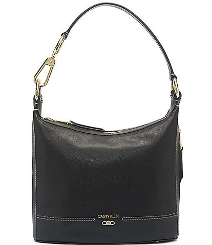 Calvin Klein Pebble Leather Sophia Hobo Bag