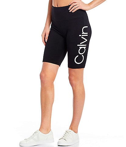 Calvin Klein Performance Calvin Logo High Waist One Pocket Bike Short