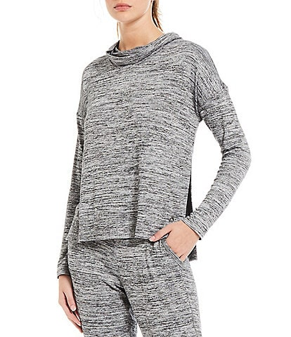 Calvin Klein Performance Cowl Neck Long Sleeve Side Vent Coordinating Top