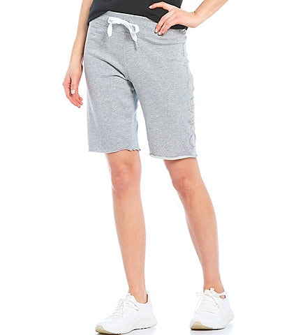 Calvin Klein Performance Embroidered Calvin Logo Mid Rise Bermuda Shorts