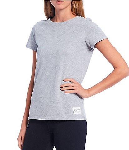 Calvin Klein Performance Jersey Logo Patch Short Sleeve Crew Neck Cotton Tee