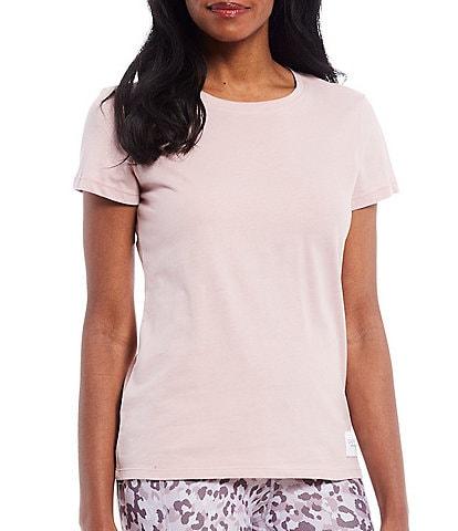 Calvin Klein Performance Jersey Logo Patch Short Sleeve Crew Neck Cotton Tee