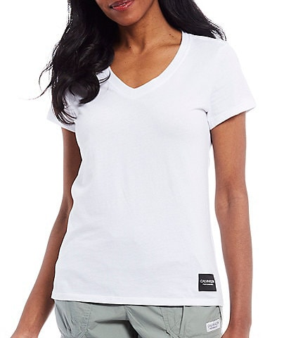 Calvin Klein Performance Logo Patch Short Sleeve V-Neck Tee