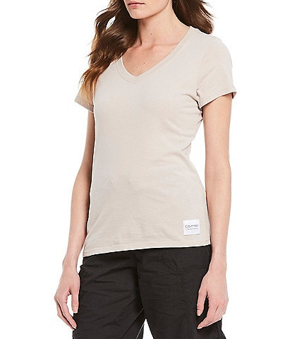 Calvin Klein Performance Logo Patch Short Sleeve V-Neck Tee