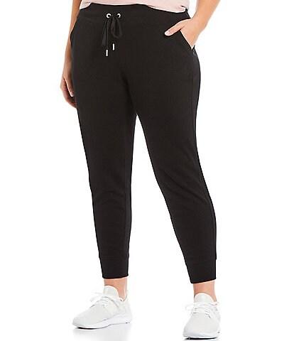 Calvin Klein Performance Plus Size Terry Rib Trim Jogger With Pocket