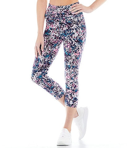 Calvin Klein Performance Print High Waist Cropped Pull-On Tights