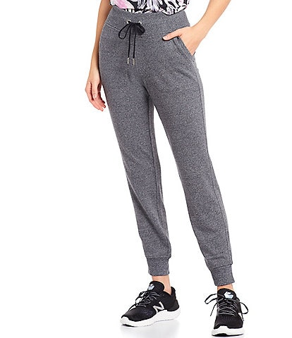 Calvin Klein Performance Rib Trim Terry Jogger Pants With Pockets