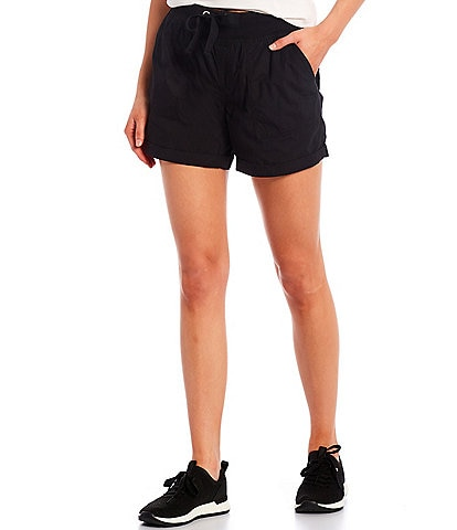 Calvin Klein Performance Rolled Hem Rib Waistband Drawstring Shorts