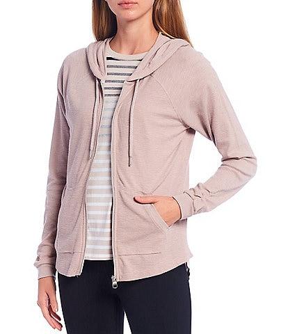 Calvin Klein Performance Ruched Long Sleeve Zip Front Hoodie Jacket