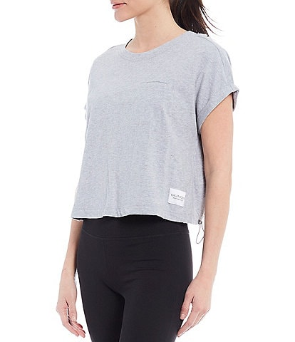 Calvin Klein Performance Short Sleeve Crew Neck Bungee Hem Tee