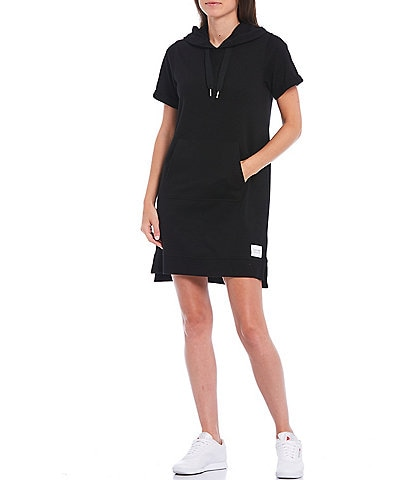 Calvin Klein Performance Short Sleeve French Terry Cotton Hooded Dress
