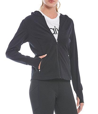 Calvin Klein Performance Yoga Long Sleeve Front Zip Hoodie Jacket