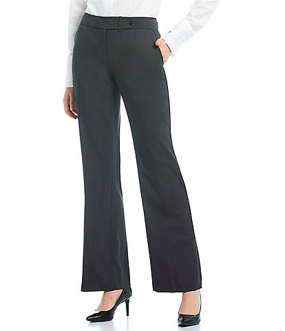 Calvin Klein Petite Classic Trouser Leg Pants with Slightly Flared Hem