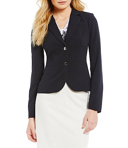 Calvin Klein Petite Notch-Collar Jacket
